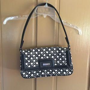 Kate Spade White & Black Pattern Bag.
